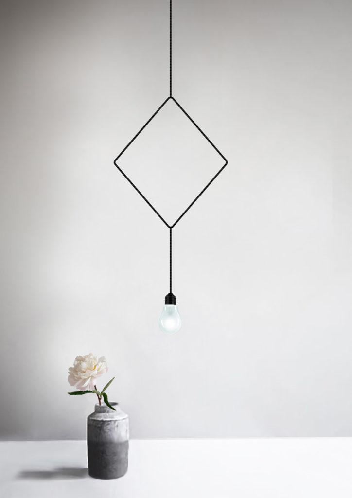 Da springt das Herz im Viereck, beim Anblick dieser Lampenform.