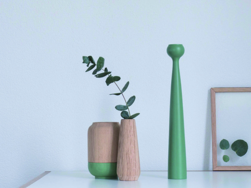 Grün drin und grün dran: Holzvase von Applicata
