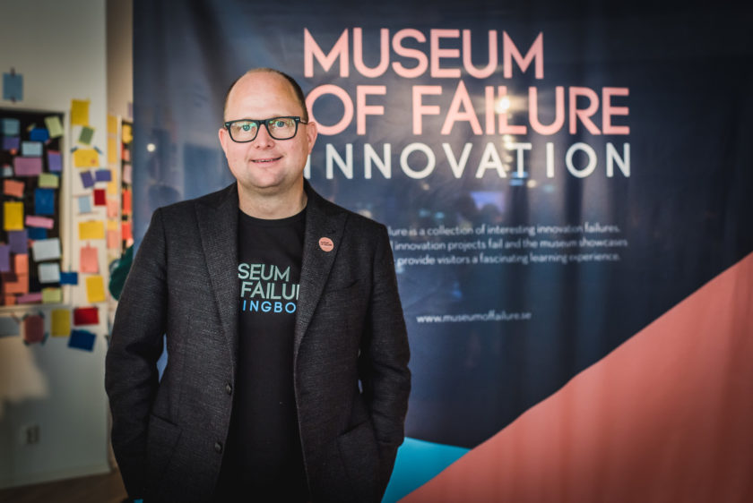 Samuel West, Erfinder des Museum of Failure in Helsingborg.
