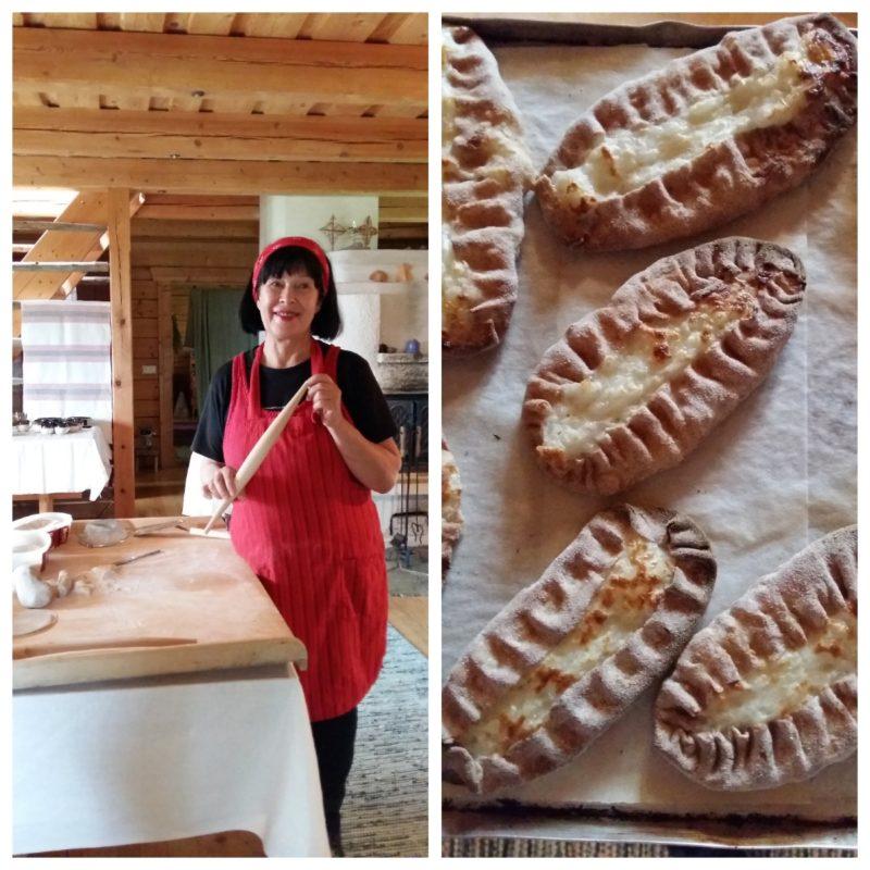 Die finnische Meisterin im Piroggenbacken zeigt, wie es geht