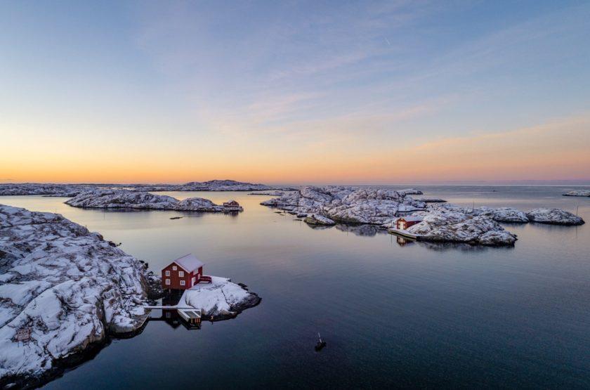 Winter an der schwedischen Westküste