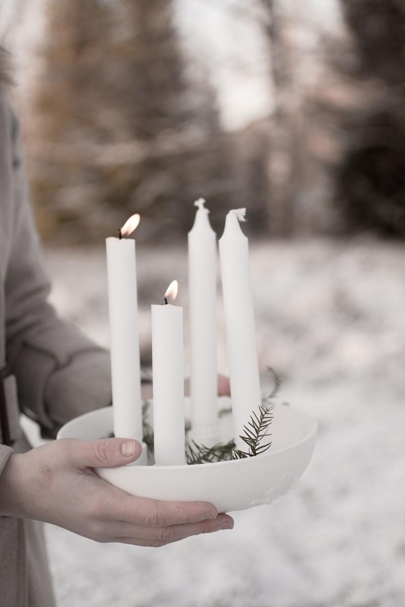 Skandinavische Adventskranz-Ideen