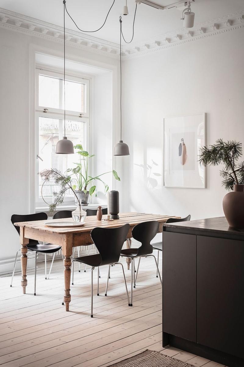 Wohntraum für Minimalisten: Göteborger Zuhause in winterlichen Naturtönen