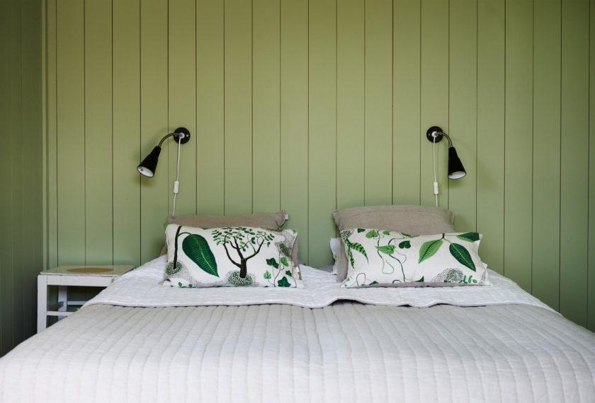 Grün, grün, grün sind alle meine Wände... zumindest im Gästezimmer.